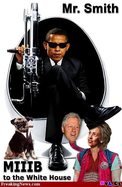 Obama MIB - Hombre de Negro - Men in Black